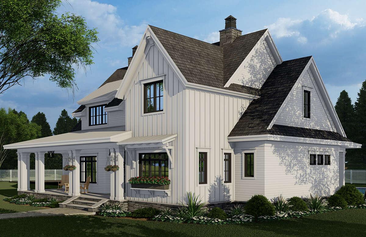 Modern Farmhouse Plan: 2,913 Square Feet, 4 Bedrooms, 4.5 ...