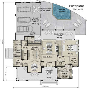 Main Floor for House Plan #098-00320
