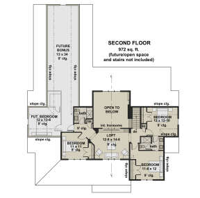 Second Floor for House Plan #098-00320