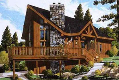 3 Bed, 2 Bath, 1529 Square Foot House Plan - #033-00051