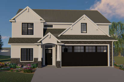 5 Bed, 4 Bath, 3255 Square Foot House Plan - #5032-00029