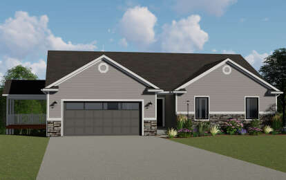 3 Bed, 2 Bath, 1836 Square Foot House Plan #5032-00036