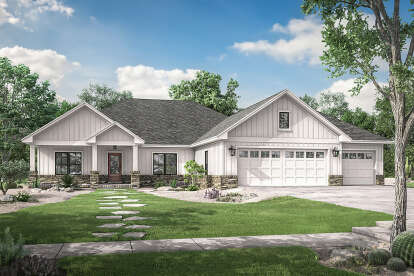 3 Bed, 2 Bath, 2230 Square Foot House Plan - #041-00213