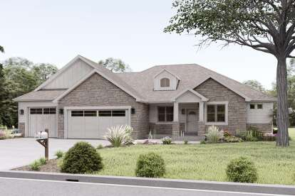 3 Bed, 2 Bath, 2178 Square Foot House Plan #2802-00055