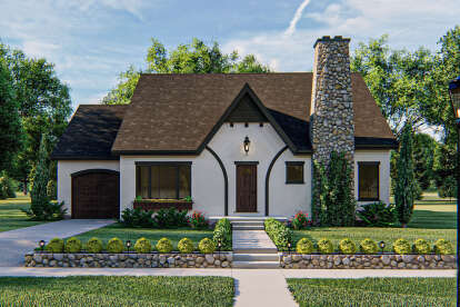 3 Bed, 2 Bath, 1496 Square Foot House Plan #963-00396