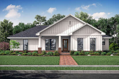 3 Bed, 2 Bath, 1327 Square Foot House Plan #041-00214