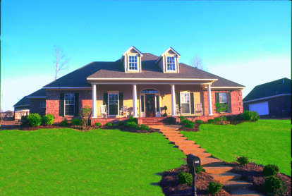 4 Bed, 2 Bath, 1840 Square Foot House Plan - #046-00174