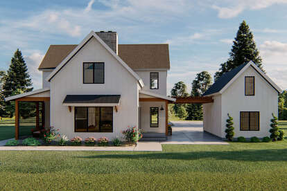 3 Bed, 3 Bath, 2719 Square Foot House Plan - #963-00399