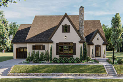 3 Bed, 2 Bath, 1695 Square Foot House Plan #963-00400