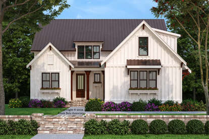 4 Bed, 4 Bath, 2311 Square Foot House Plan - #8594-00438