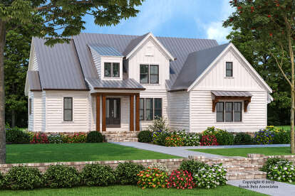 4 Bed, 3 Bath, 2398 Square Foot House Plan - #8594-00441