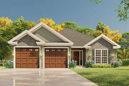 3 Bed, 2 Bath, 1516 Square Foot House Plan #110-01069