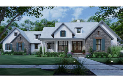 3 Bed, 2 Bath, 1988 Square Foot House Plan #9401-00108