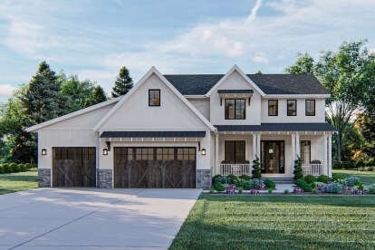 4 Bed, 2 Bath, 3046 Square Foot House Plan - #963-00401