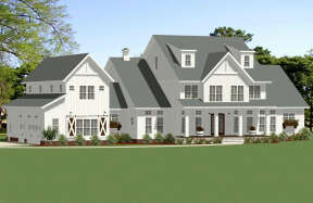 Modern Farmhouse House Plan #6849-00092 Elevation Photo