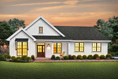 3 Bed, 2 Bath, 1704 Square Foot House Plan - #2559-00837