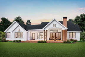 Modern Farmhouse House Plan #2559-00839 Elevation Photo