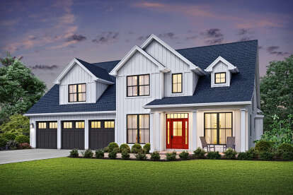 4 Bed, 3 Bath, 2944 Square Foot House Plan - #2559-00840