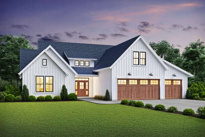 3 Bed, 2 Bath, 2576 Square Foot House Plan - #2559-00841