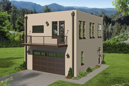 2 Bed, 1 Bath, 820 Square Foot House Plan - #940-00203