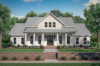 4 Bed, 3 Bath, 2390 Square Foot House Plan #041-00216
