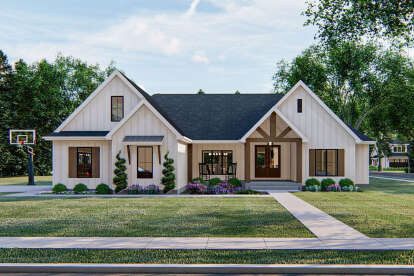 4 Bed, 3 Bath, 2309 Square Foot House Plan #963-00409
