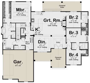 Modern Farmhouse Plan 2 309 Square Feet 4 Bedrooms 3 5