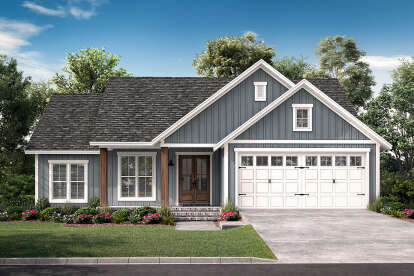 3 Bed, 2 Bath, 1521 Square Foot House Plan #041-00218