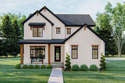 4 Bed, 3 Bath, 2318 Square Foot House Plan - #963-00412