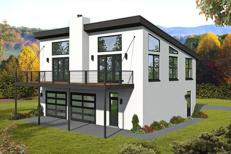 Modern  House Plan #940-00231 Elevation Photo