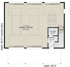 First Floor for House Plan #940-00231