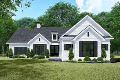 3 Bed, 2 Bath, 1967 Square Foot House Plan #8318-00150