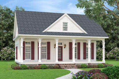 1 Bed, 1 Bath, 902 Square Foot House Plan - #048-00273
