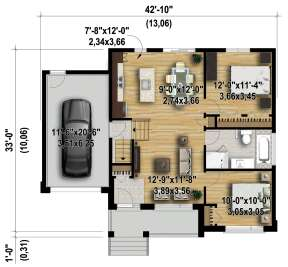 Main Floor for House Plan #6146-00379