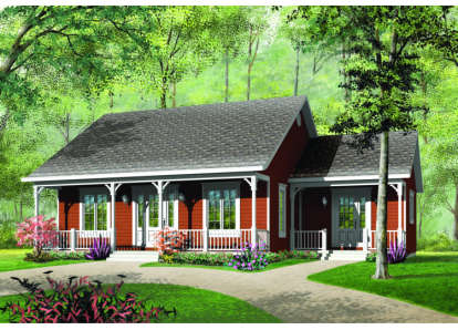 3 Bed, 1 Bath, 1147 Square Foot House Plan - #034-00001
