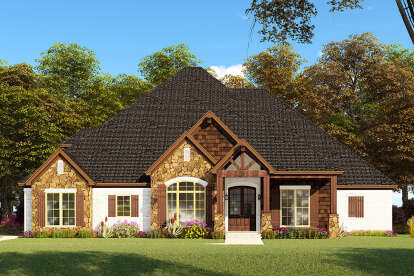 4 Bed, 3 Bath, 2520 Square Foot House Plan - #8318-00151