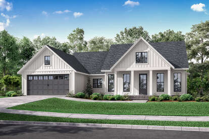 3 Bed, 2 Bath, 1706 Square Foot House Plan #041-00221