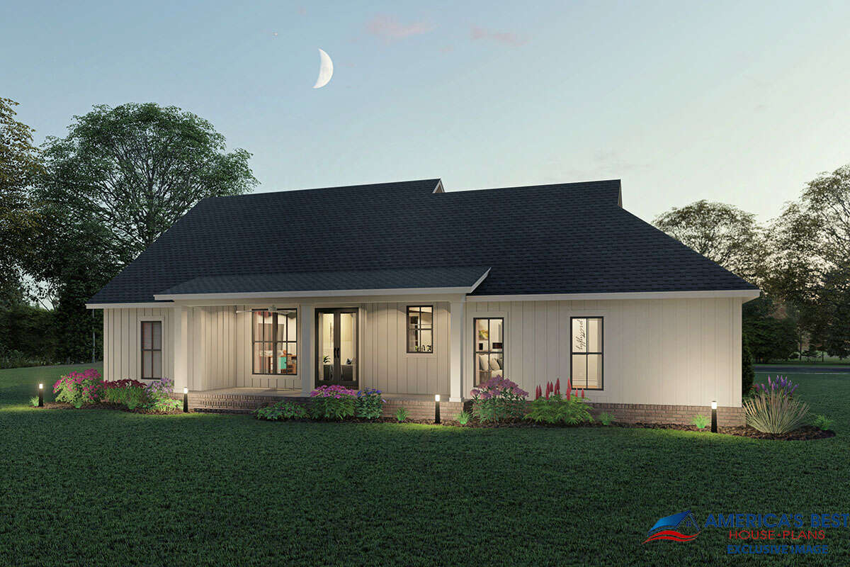 Modern Farmhouse Plan: 1,706 Square Feet, 3 Bedrooms, 2 ...