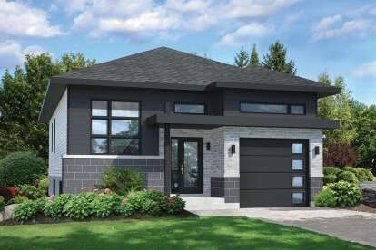 2 Bed, 1 Bath, 1070 Square Foot House Plan - #6146-00387