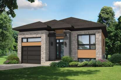 2 Bed, 1 Bath, 1064 Square Foot House Plan - #6146-00388