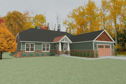 4 Bed, 2 Bath, 2721 Square Foot House Plan - #1462-00001