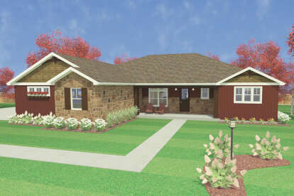3 Bed, 2 Bath, 2864 Square Foot House Plan #1462-00009