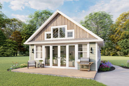 1 Bed, 1 Bath, 751 Square Foot House Plan - #1462-00015
