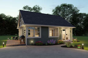 Cottage House Plan #1462-00015 Elevation Photo
