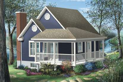1 Bed, 1 Bath, 613 Square Foot House Plan - #6146-00397