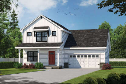 3 Bed, 2 Bath, 1600 Square Foot House Plan - #402-01645