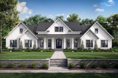 4 Bed, 3 Bath, 3086 Square Foot House Plan #041-00222