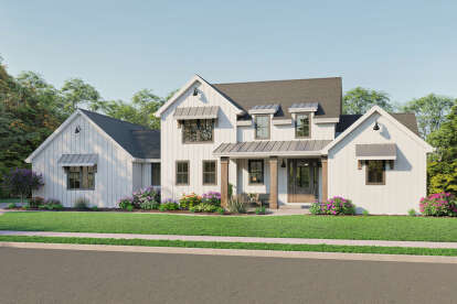 4 Bed, 2 Bath, 2706 Square Foot House Plan #1462-00017