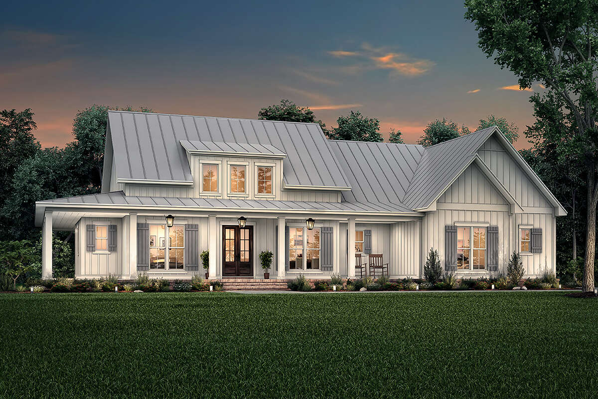 Modern Farmhouse Plan: 2,395 Square Feet, 3 Bedrooms, 2.5 ...
