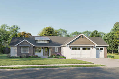 3 Bed, 2 Bath, 2106 Square Foot House Plan #1462-00018